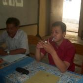 Pak Faisal DUDI dari KAI dan Guru Teknik Listrik SMK YPT Pak Yustinus